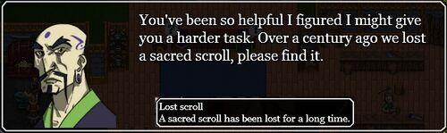 Invitation to Lost scroll quest