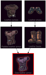 ResearchTree Cow leather armor