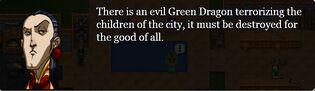 Green dragon quest invitation