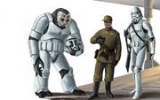 Armee-offizier und sturmtruppler