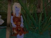 Lanya at the pond