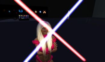 Minx and Crossing Sabers 001
