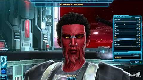 Star Wars The Old Republic Character creation Sith Pureblood race - MMO HD TV (1080p)