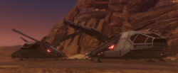 Imperial Assault shuttles (front)