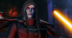 Emperor before a lightsaber