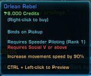 Orlean Rebel Prop Info