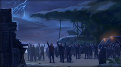 Vitiate declared himself Emperor