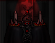 Emperor at the throne