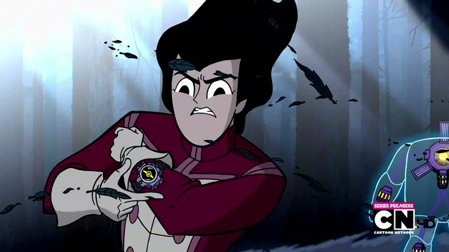 File:Lance activating Manus in Escape To Sherman High.png