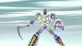 Sym-Bionic Titan (mech) using Cronus Chain against the Dragon Creature in Disenfranchised 01.png