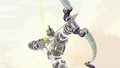 Sym-Bionic Titan (mech) using a bow in I am Octus 01.png
