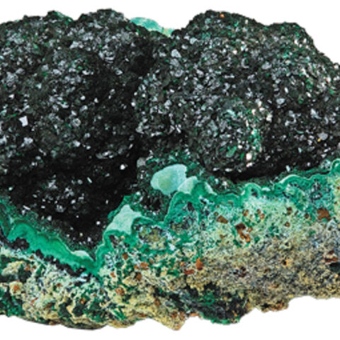 Raw malachite.