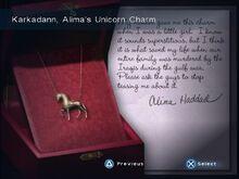 Karkadann, Alima's Unicorn Charm