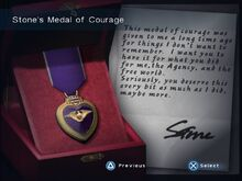 Stone's Medal of Courage