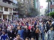 Egyptian marchers in street