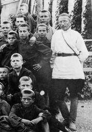 Makarenko with kids