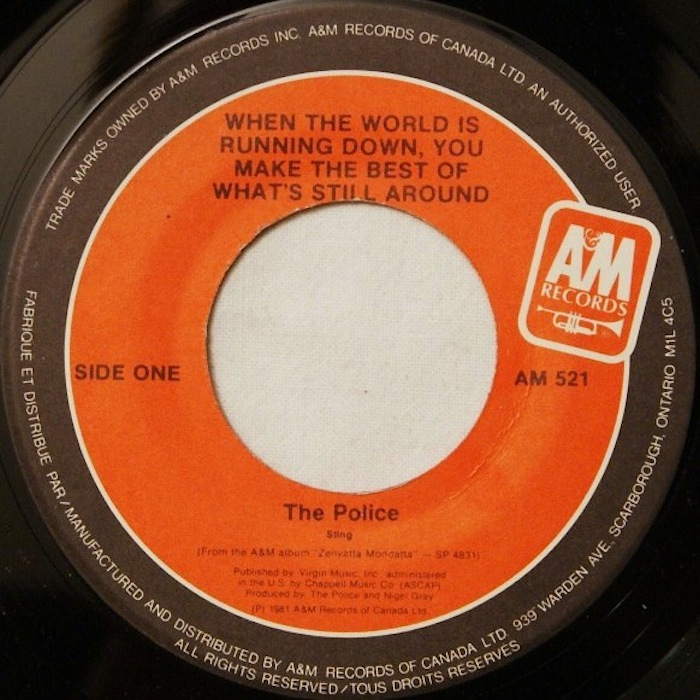 Image - The Police-When The World Is Running Down, You Make The Best Of Whatu0026#39;s Still Around.jpeg ...