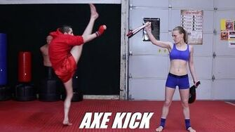 Taekwondo Axe Kick Tutorial for MMA & Kickboxing 60fps