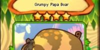 Grumpy Papa Boar (card)
