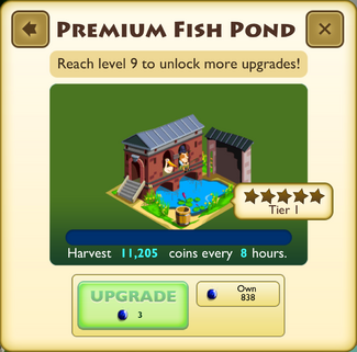 Premium Fish Pond Tier 1