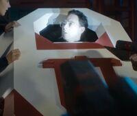 Rassmussen inside a Morpheus pod