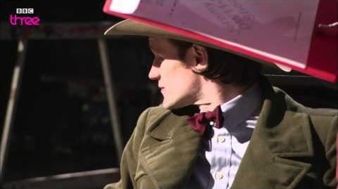Mark Gatiss gets made up to become Gantok - Doctor Who Confidential - Series 6 - BBC Three