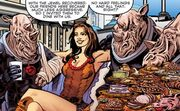 Leela dines with the Judoon
