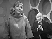 Vicki and the Doctor in TARDIS Time Meddler