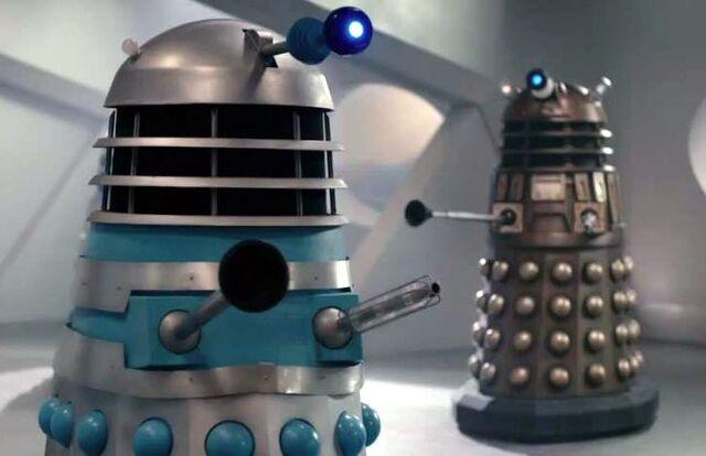 File:60s Dalek and Time War Dalek Witch's Familiar.jpg