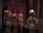 Happiness Patrol pink TARDIS