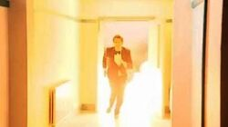 David Tennant scary fire stunt - Doctor Who Confidential - Series 3 - BBC