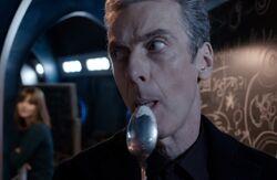 Twelfth Doctor Licks Spoon