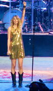Taylor Swift during Fearless Tour concert in Portland 02