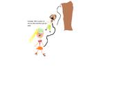 Lindsay hits the Heather Pinata