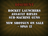 Discount and new weapon