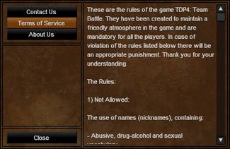 TDP4 Rules.