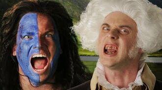 George Washington vs William Wallace. Epic Rap Battles of History Season 3.
