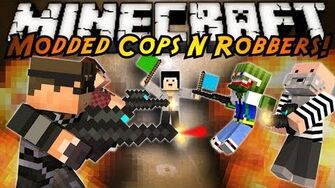 Minecraft Mini-Game MODDED COPS N ROBBERS! PAINT BALL!