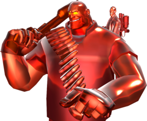 An ÜberCharged Heavy and Medic TF2