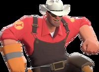 Engineer with the Texas Ten Gallon TF2