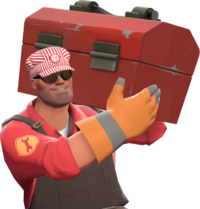 Engineer with the Engineer's Cap TF2