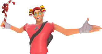 Scout with Candy Cane, Bonk Helm, and Summer Shades TF2