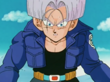 Future Trunks surprised by Vegeta's God complex