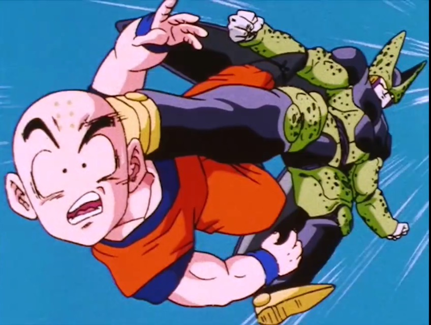 Image - Krillin hit by Cell.jpeg   Team Four Star Wiki   FANDOM powered by Wikia