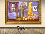 Squiddy and the cage