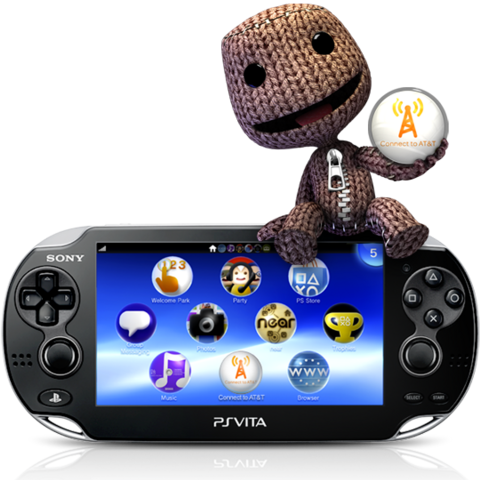 Sackboy on a picture advertising for service.