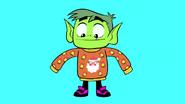 Beast Boy ugly sweater