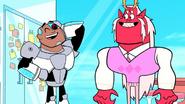 Cyborg and trigon