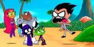 Teen Titans Go! - Crazy Desire Island Clip 1