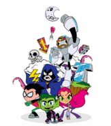 Teen Titans Go poster image white background